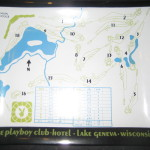 Playboy Lake Geneva Large Glass Tray