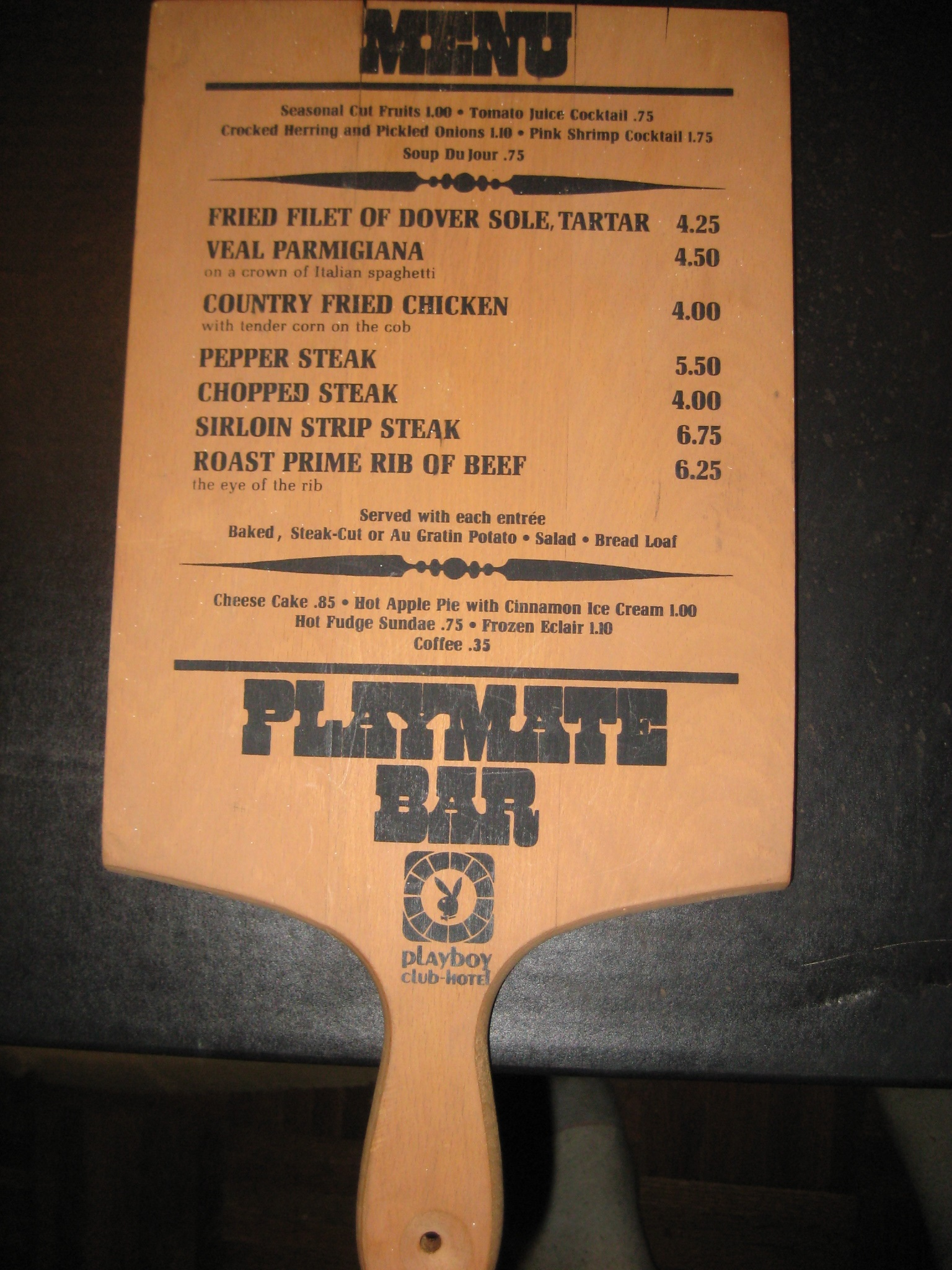 Playmate Bar Menu Playboy Club Hotel