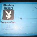 Playboy Lake Geneva Golf Score Card