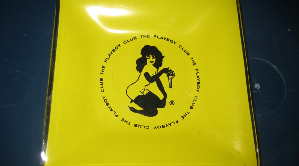 Yellow Playboy Club Femlin Ashtray