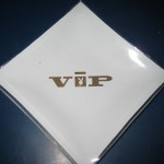 White and Gold Playboy VIP Ashtray