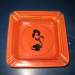 Playboy Club Deep Orange Ashtray
