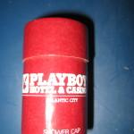 Playboy hotel Atlantic City shower cap