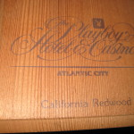 Playboy Hotel Casino Atlantic City California Redwood Korbel Champagne Box