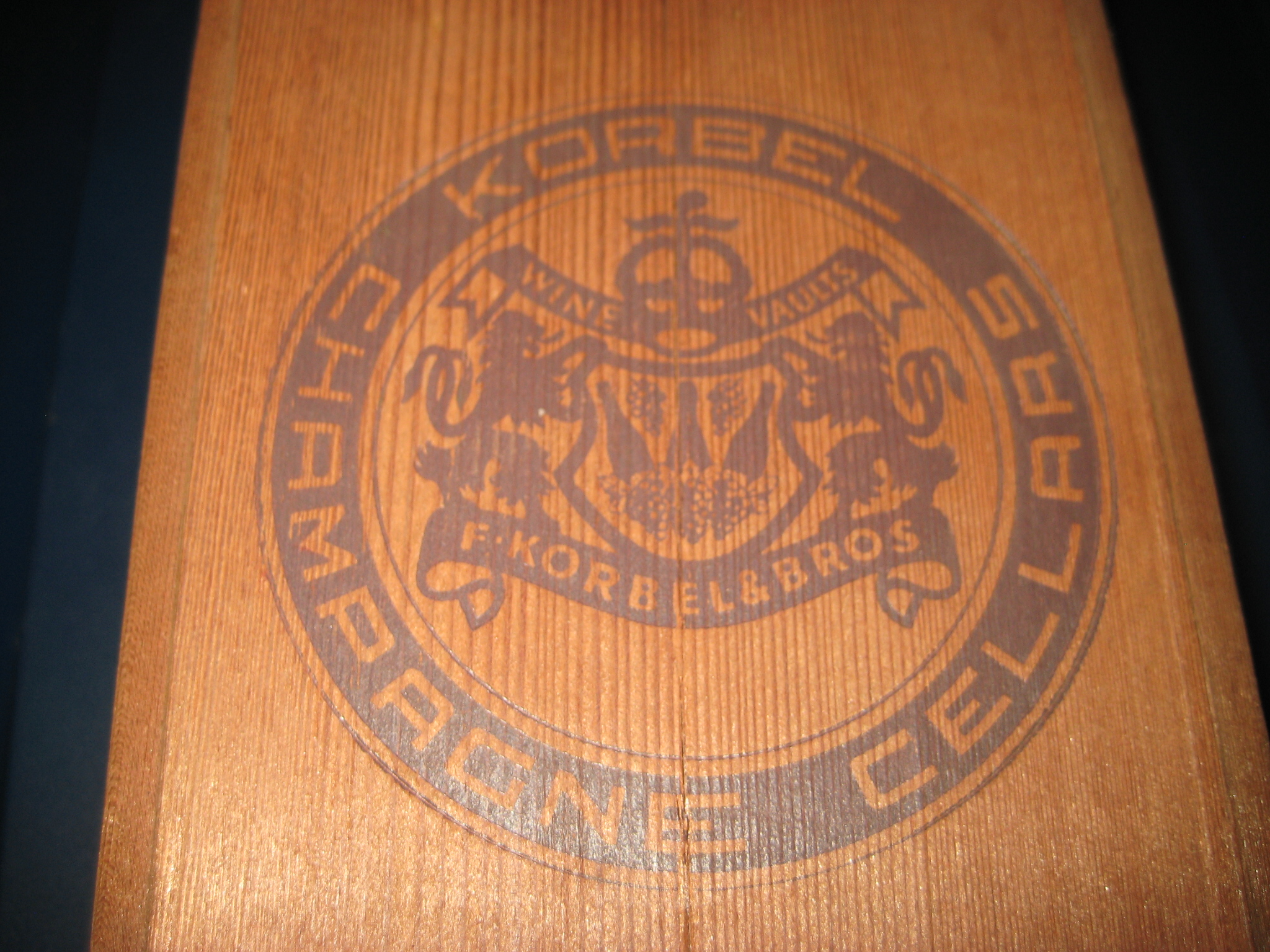 Playboy Hotel Casino Atlantic City California Redwood Korbel Champagne Box