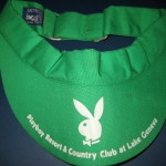 Playboy Lake Geneva Green Tennis Visor