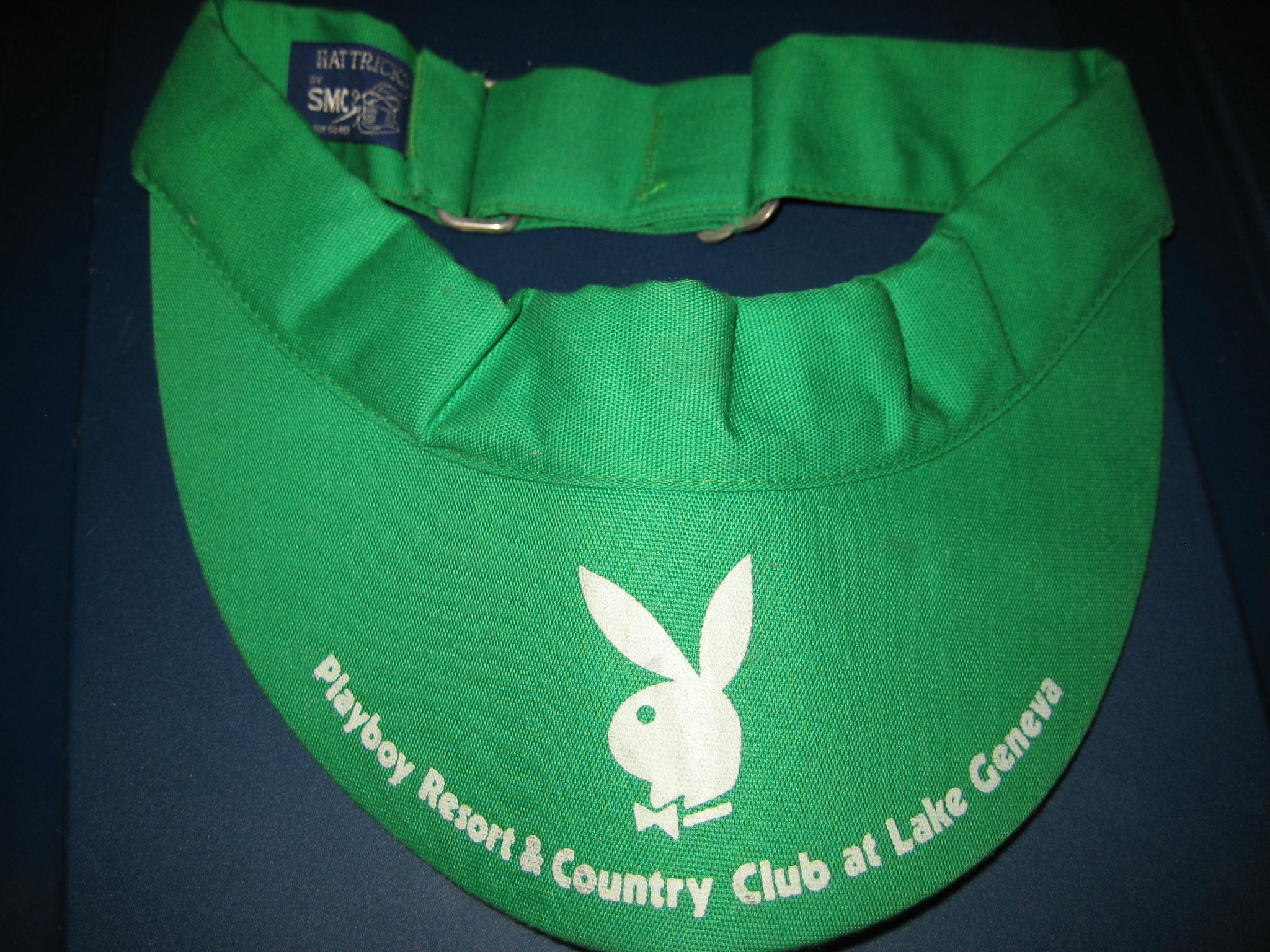 Playboy Lake Geneva Green Tennis Visor