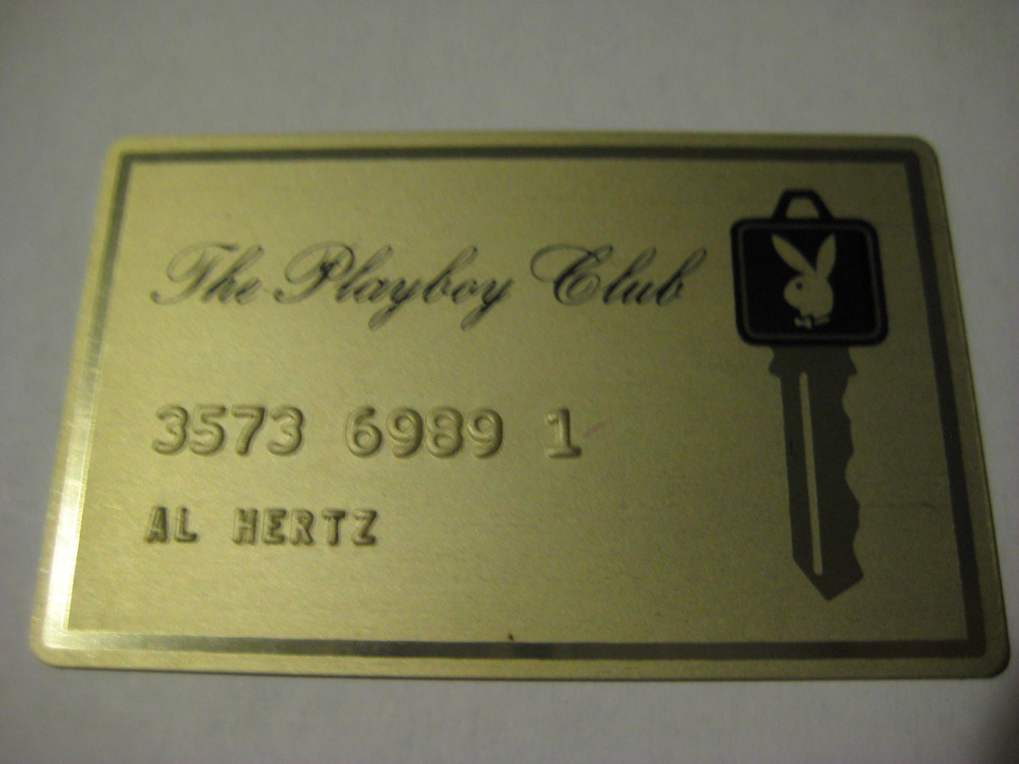 Playboy Club Gold Metal Card