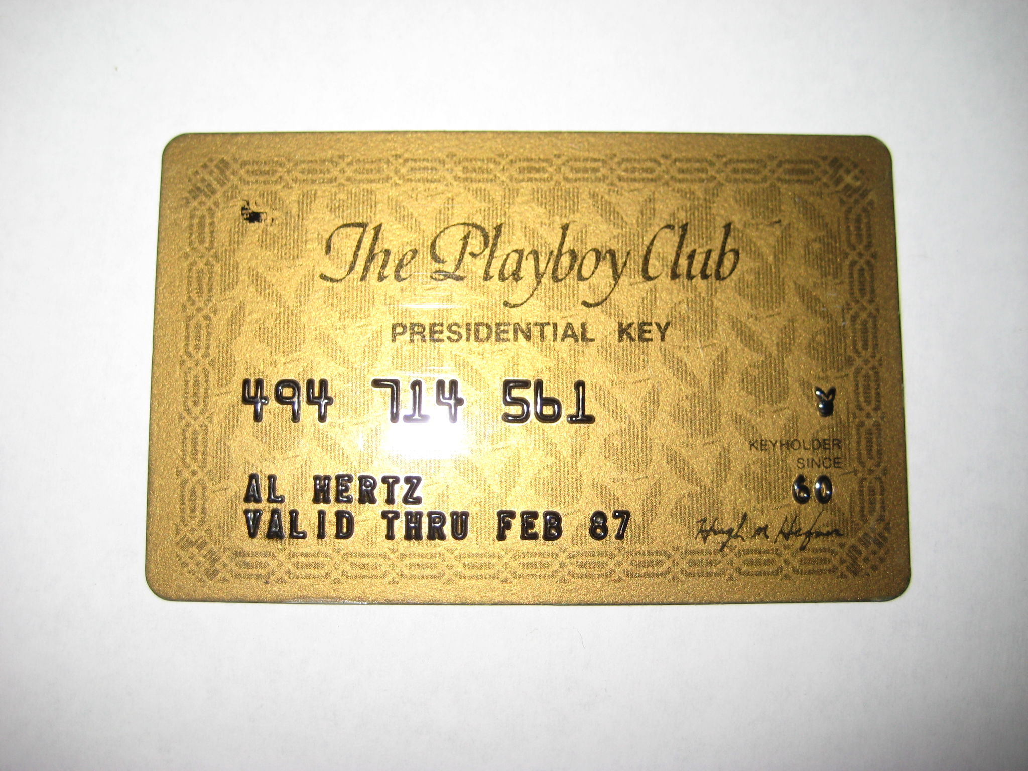 Playboy Club Presidential Key