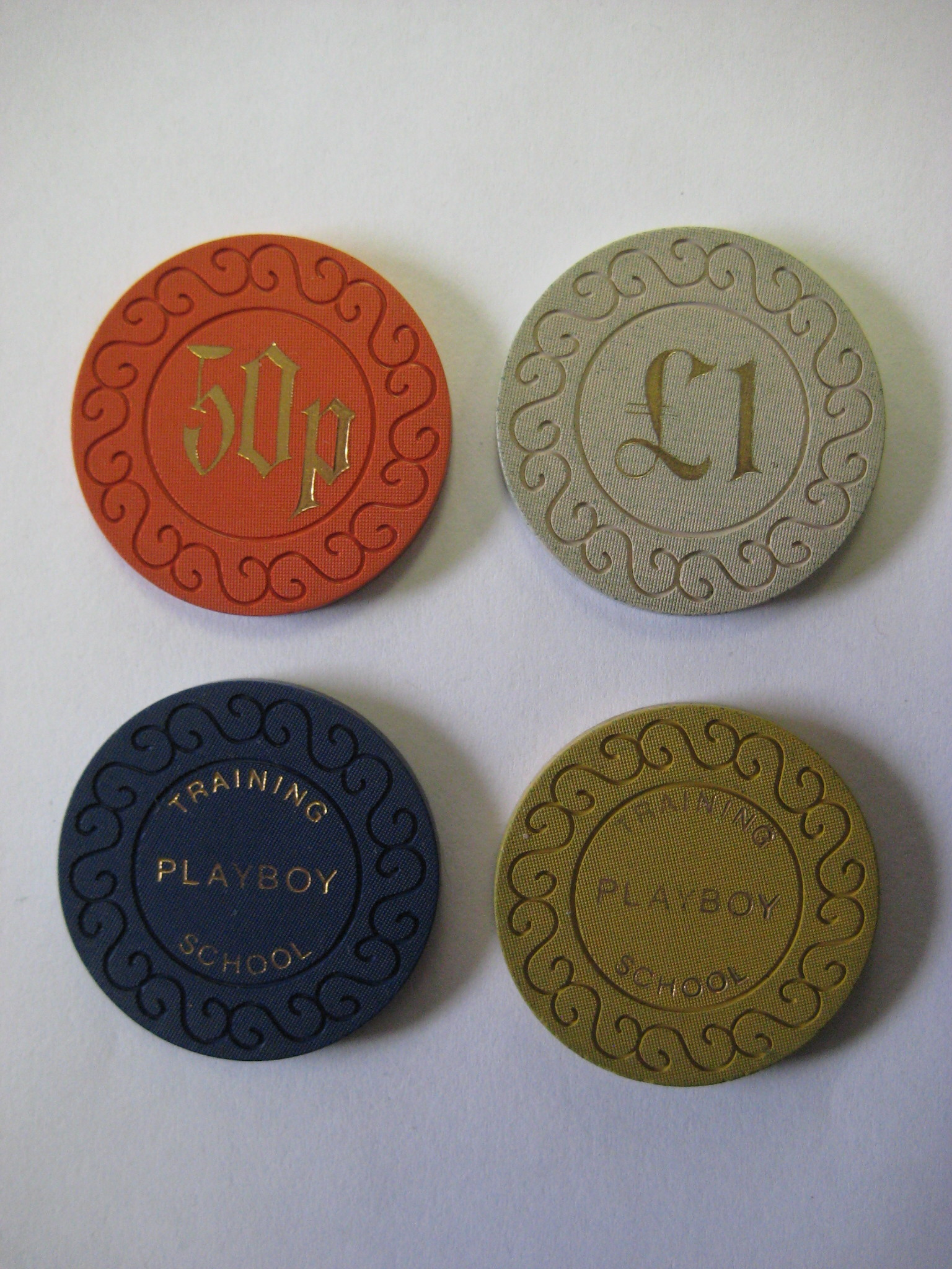 Playboy Training School Casino chips