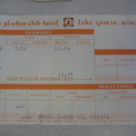 Playboy Club Lake Geneva Pay stub