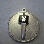 Sterling Silver Playboy Key Pendant