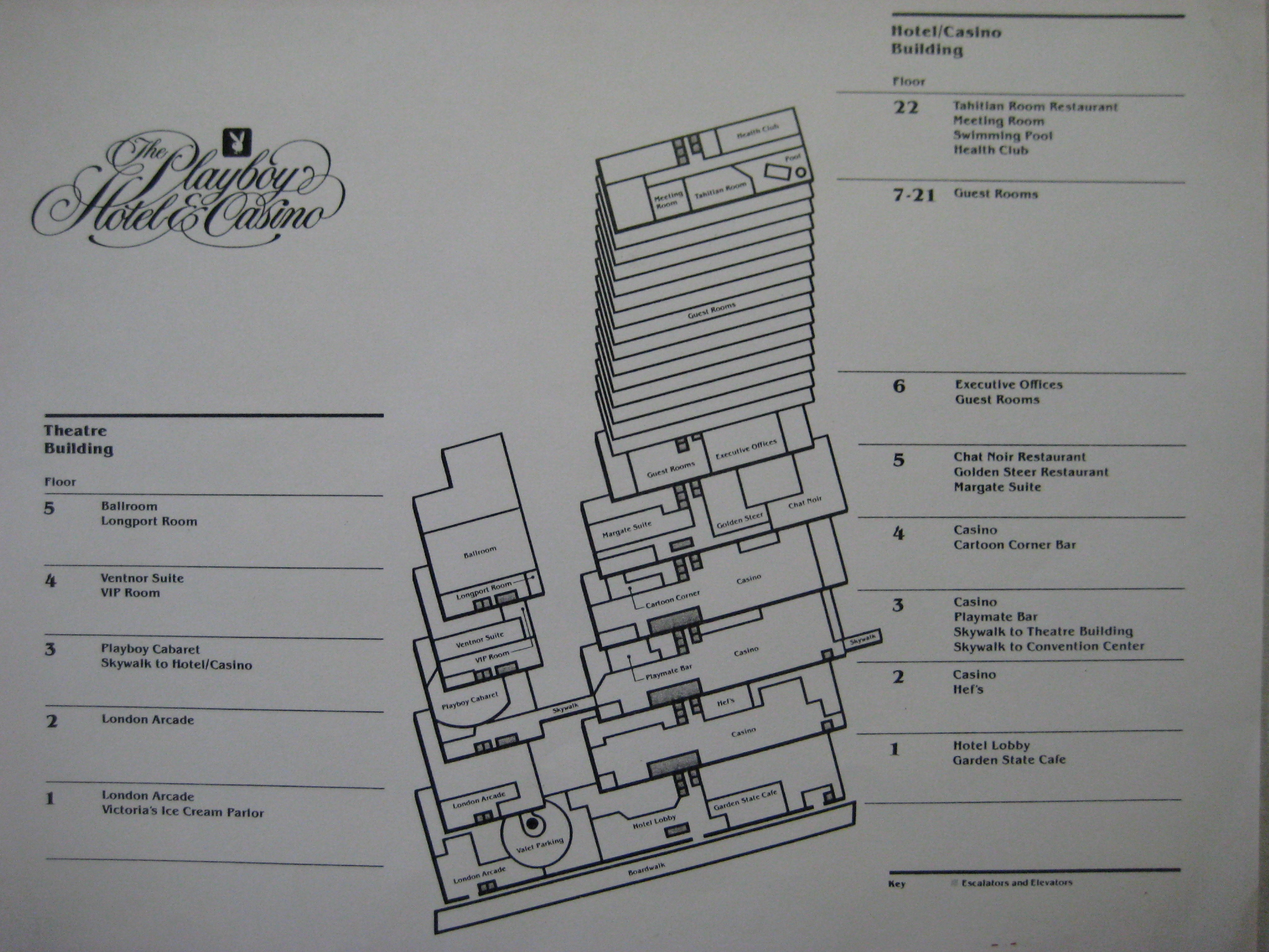 Playboy casino Atlantic City Building layout
