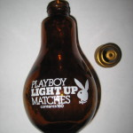Playboy Glass Light Bulb Light Up Matches Contents 160