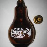Playboy Glass Light Bulb Light Up Matches Contents 160