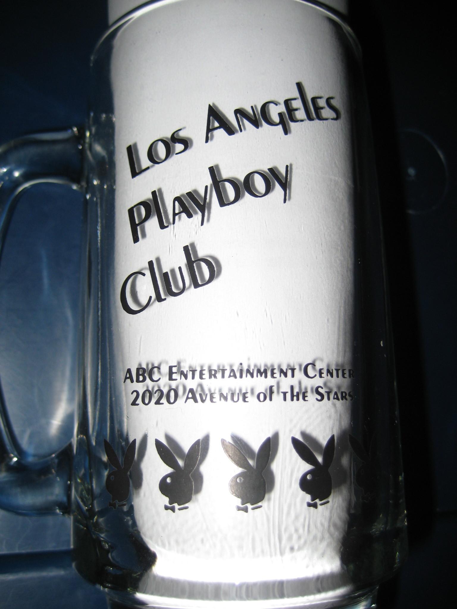 Los Angeles Playboy Club Clear Mug