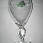 Playboy Shamrock Wine Glass