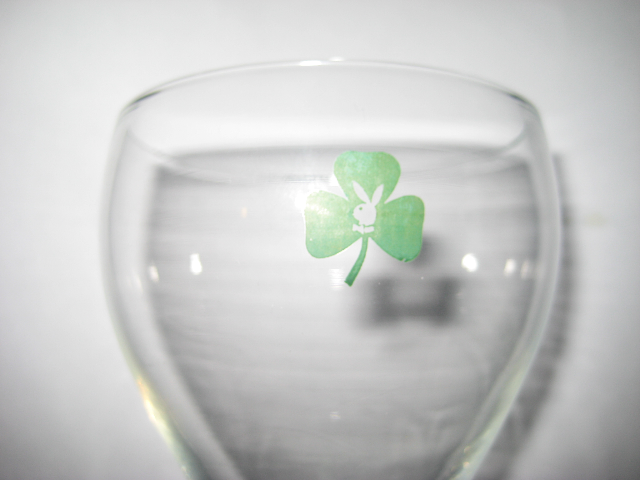 Playboy Shamrock Wine Glass 2
