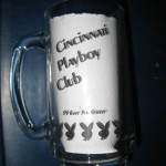 Cincinnati Playboy Club clear mug