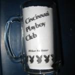 Cincinnati Playboy Club clear mug