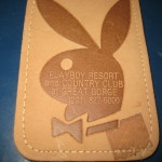 Playboy resort and country club at great gorge luggage tag