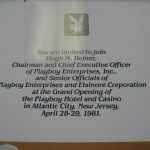 Atlantic City Playboy Hotel and Casino Grand Opening Invitation