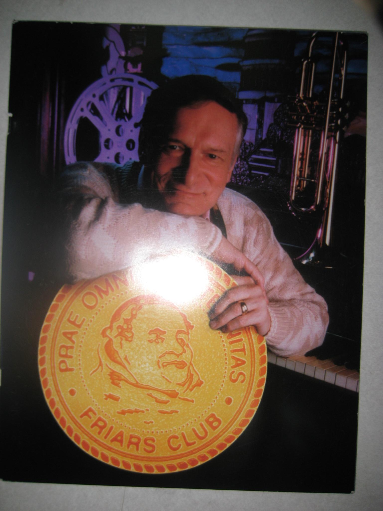 Friars Club 1998 Lifetime Achievement Award program Hugh M Hefner.