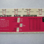 Playboy Advertising Rate Indicator 1963