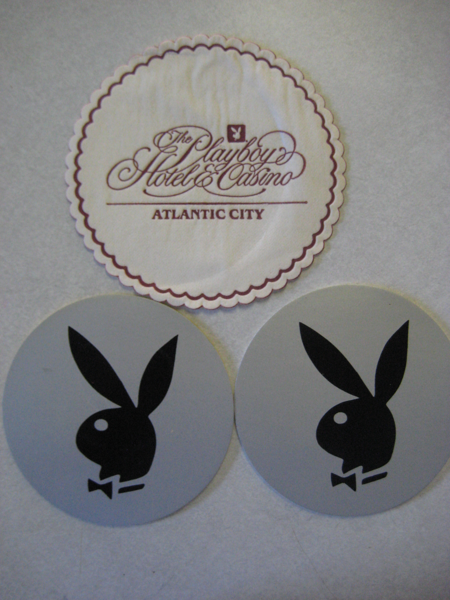 Playboy Hotel and Casino Atlantic City Coasters