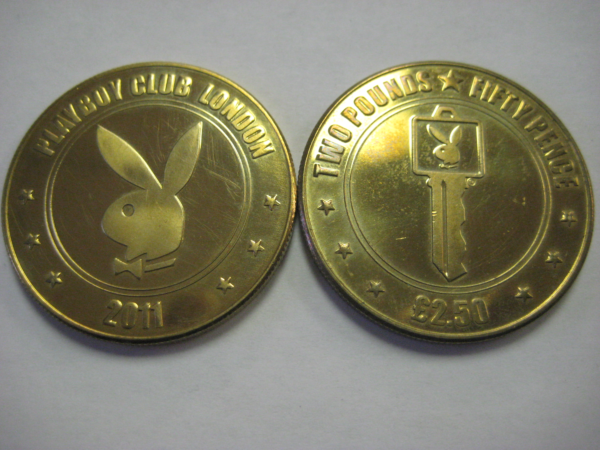 2011 Playboy Club London 2.50 Pound