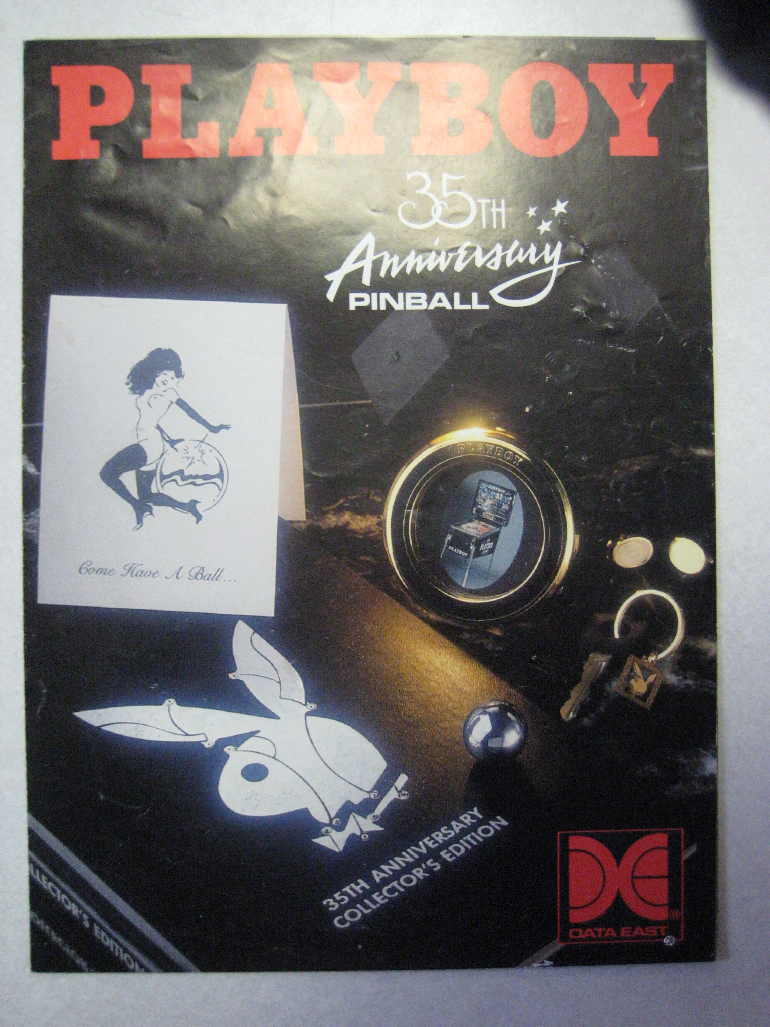 Playboy Data East 35th Anniversary Pinball Flyer