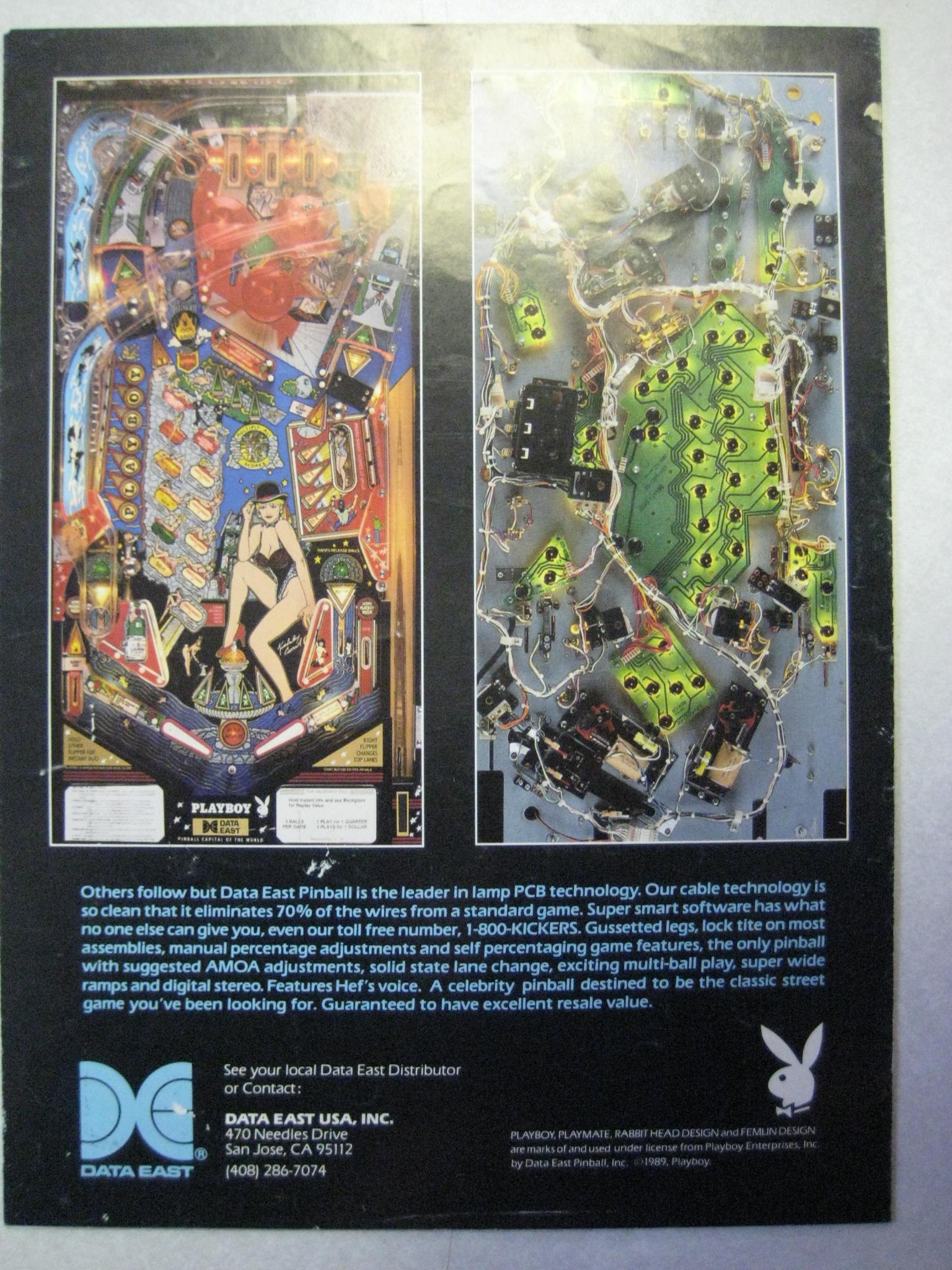 Playboy Data East 35th Anniversary Pinball Flyer