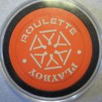 Atlantic City Orange Roulette Chip