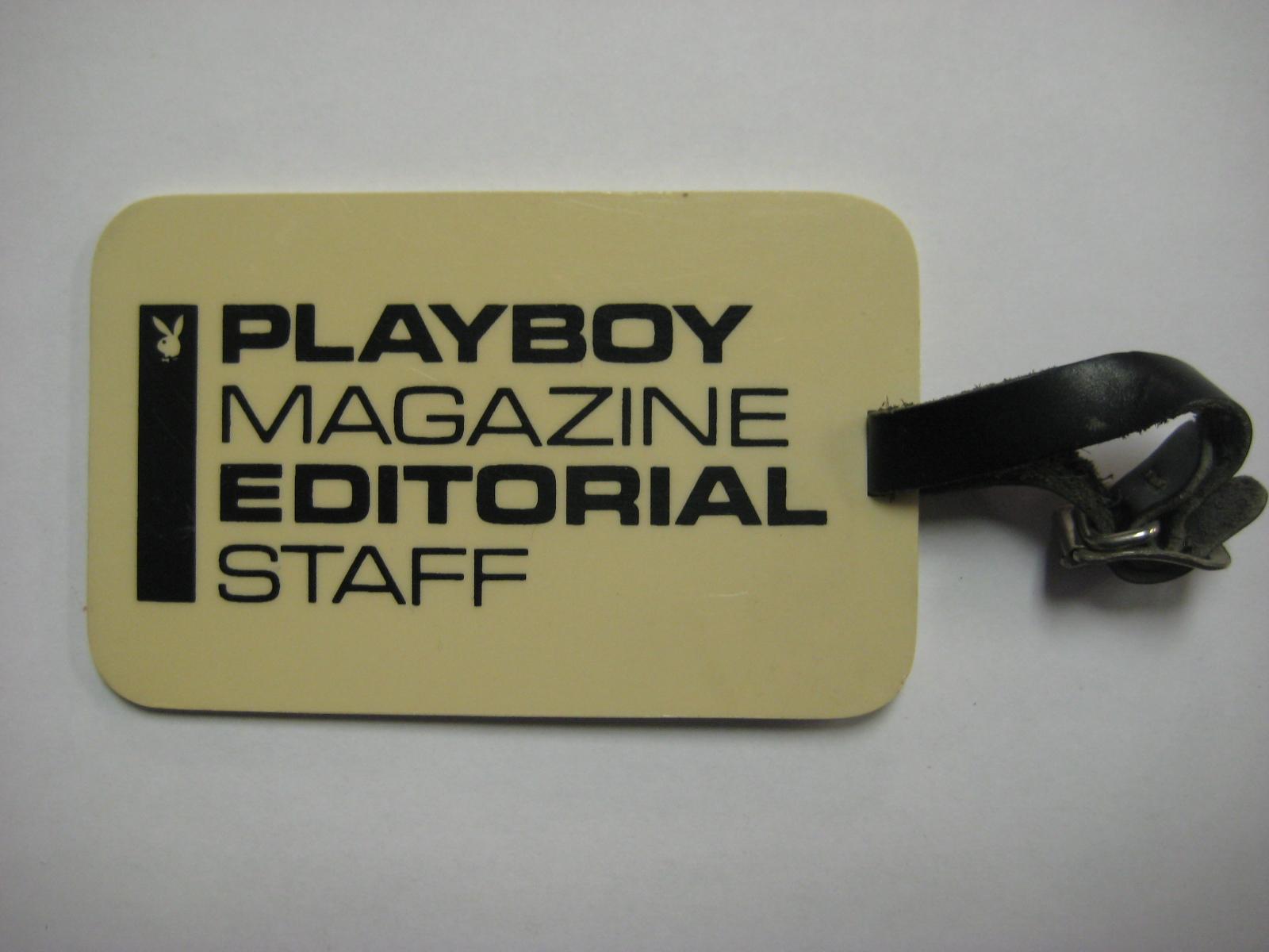 Playboy Magazine Editorial Staff Badge