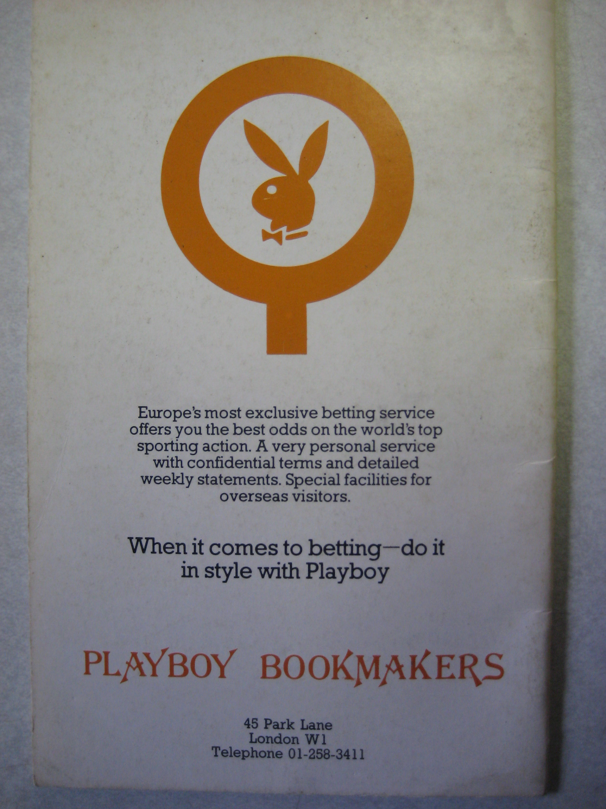 Playboy Bookmakers London