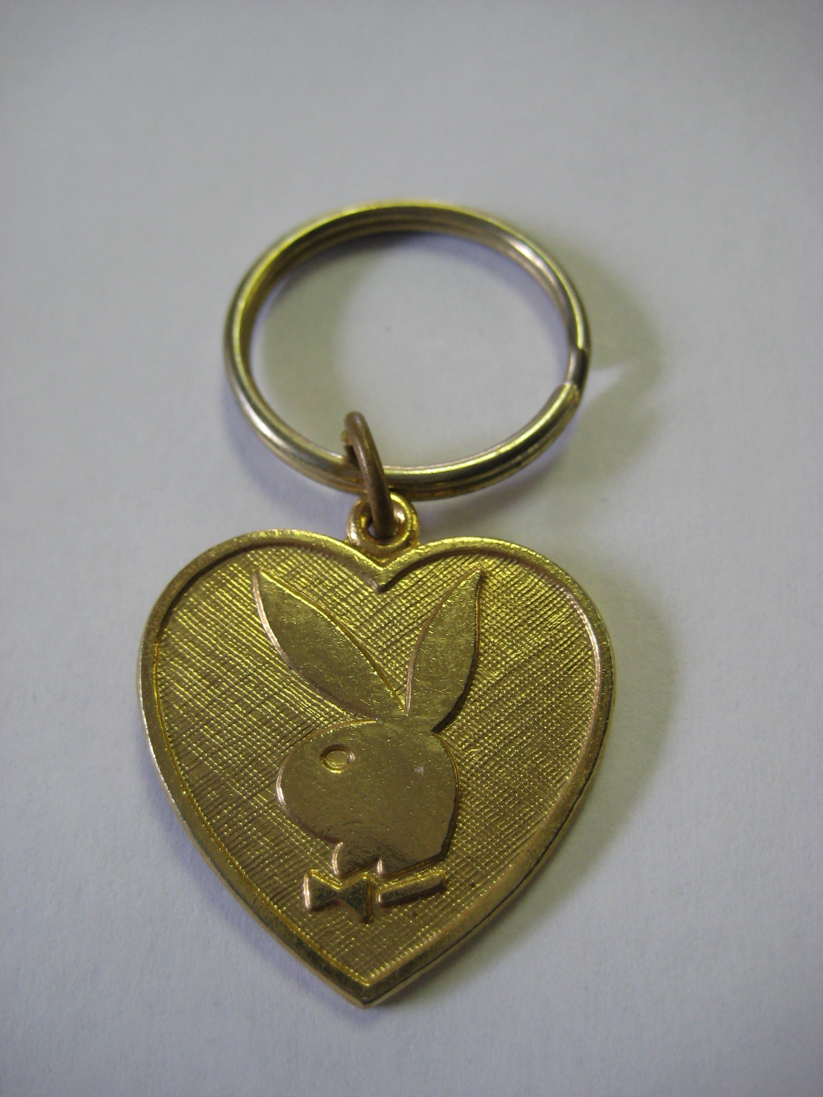 Playboy Heart Shaped Keychain