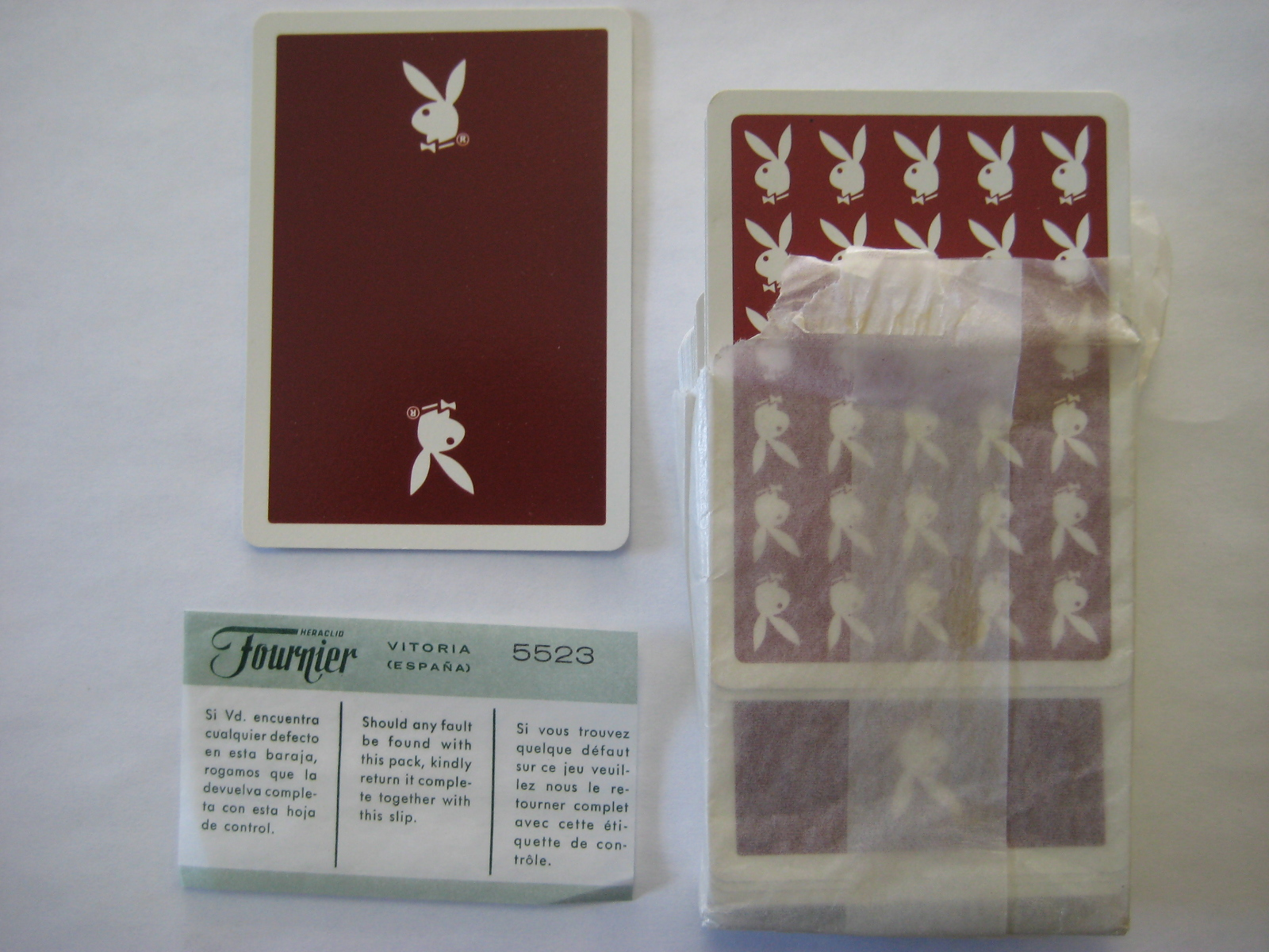 Maroon London Playboy Casino Cards