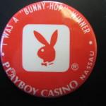 Bunny Hop Winner Nassau Bahamas Playboy Club Pin