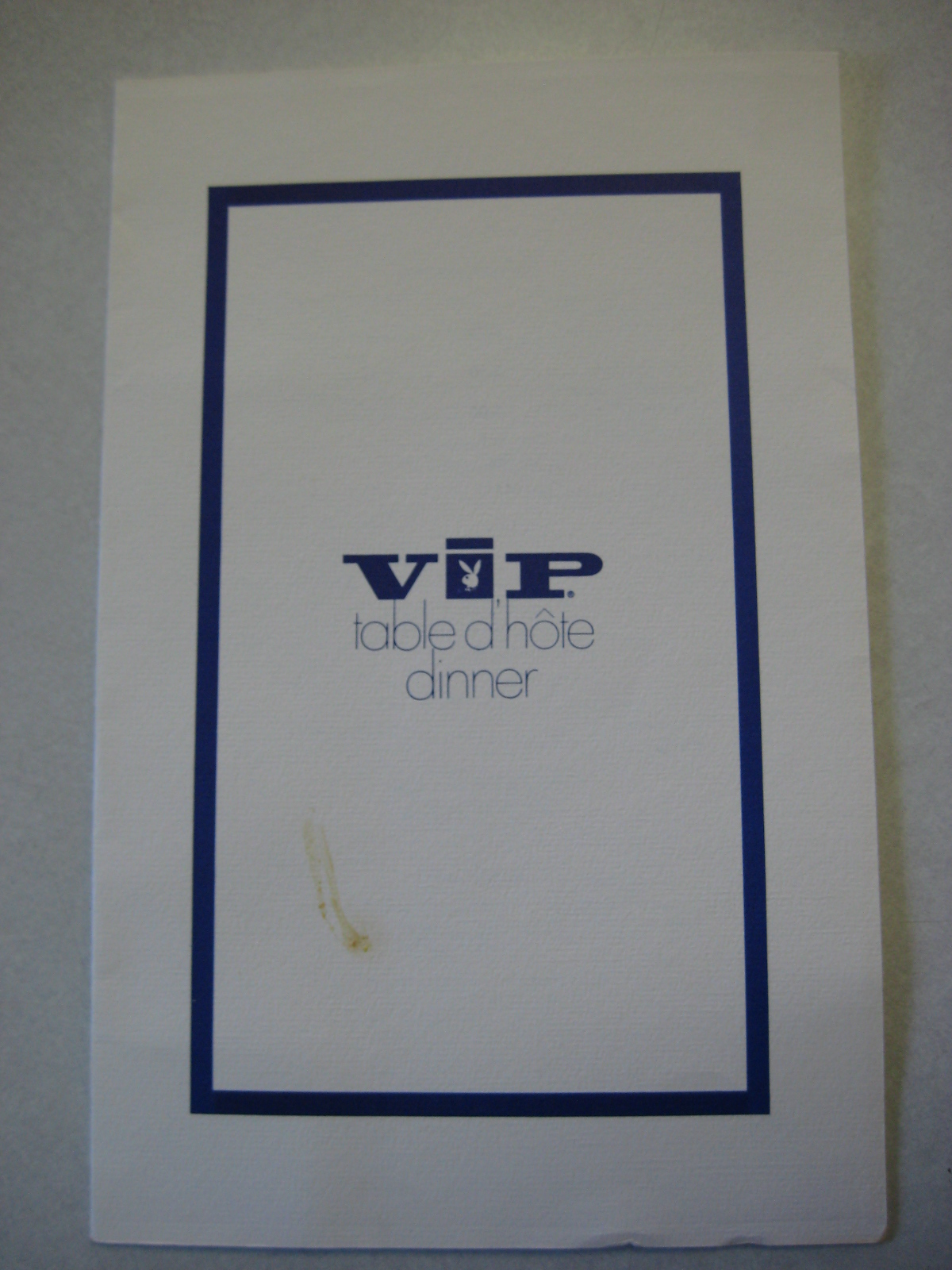 Playboy VIP Menu