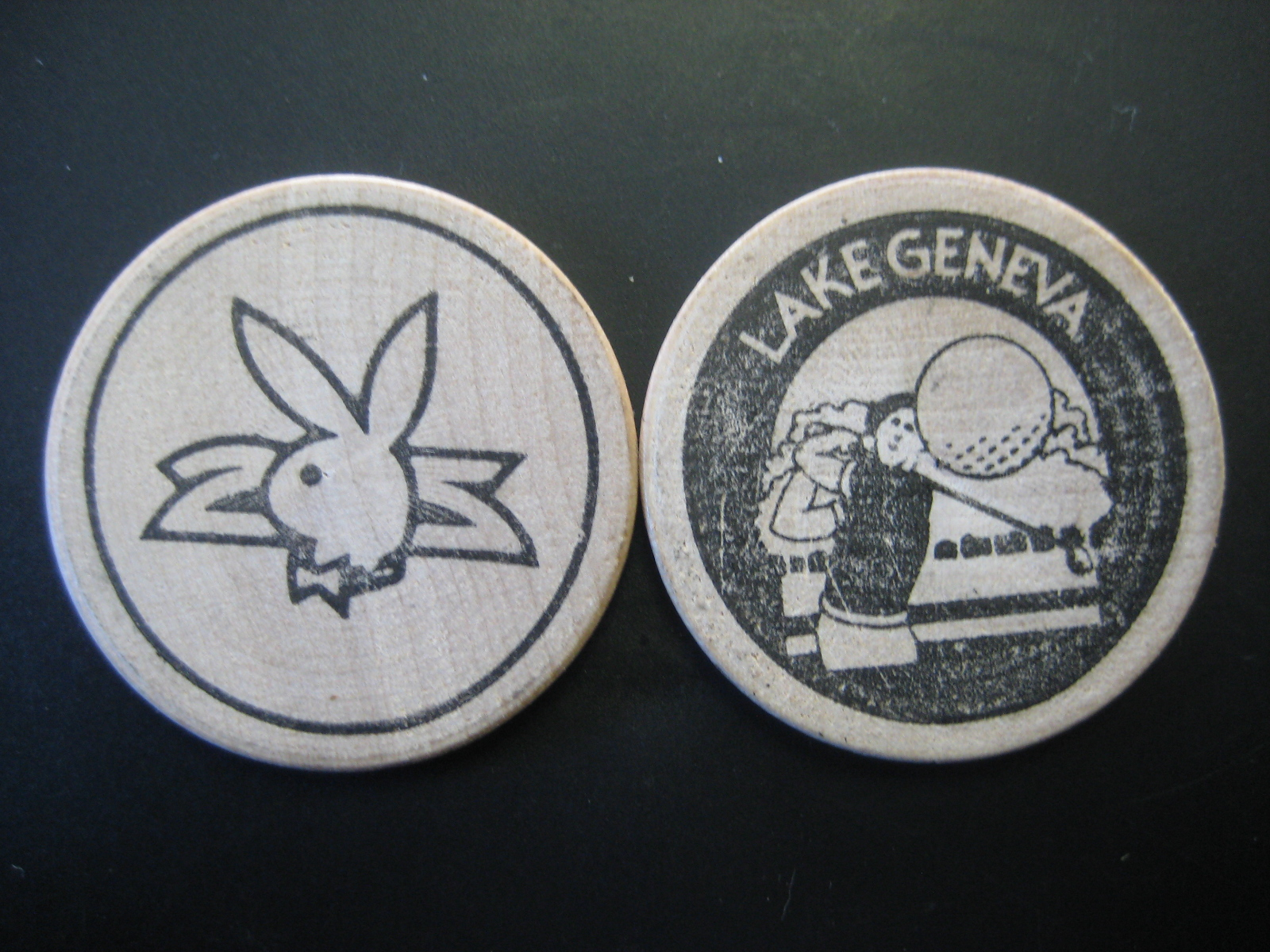 Lake Geneva Playboy Club Wooden Nickel
