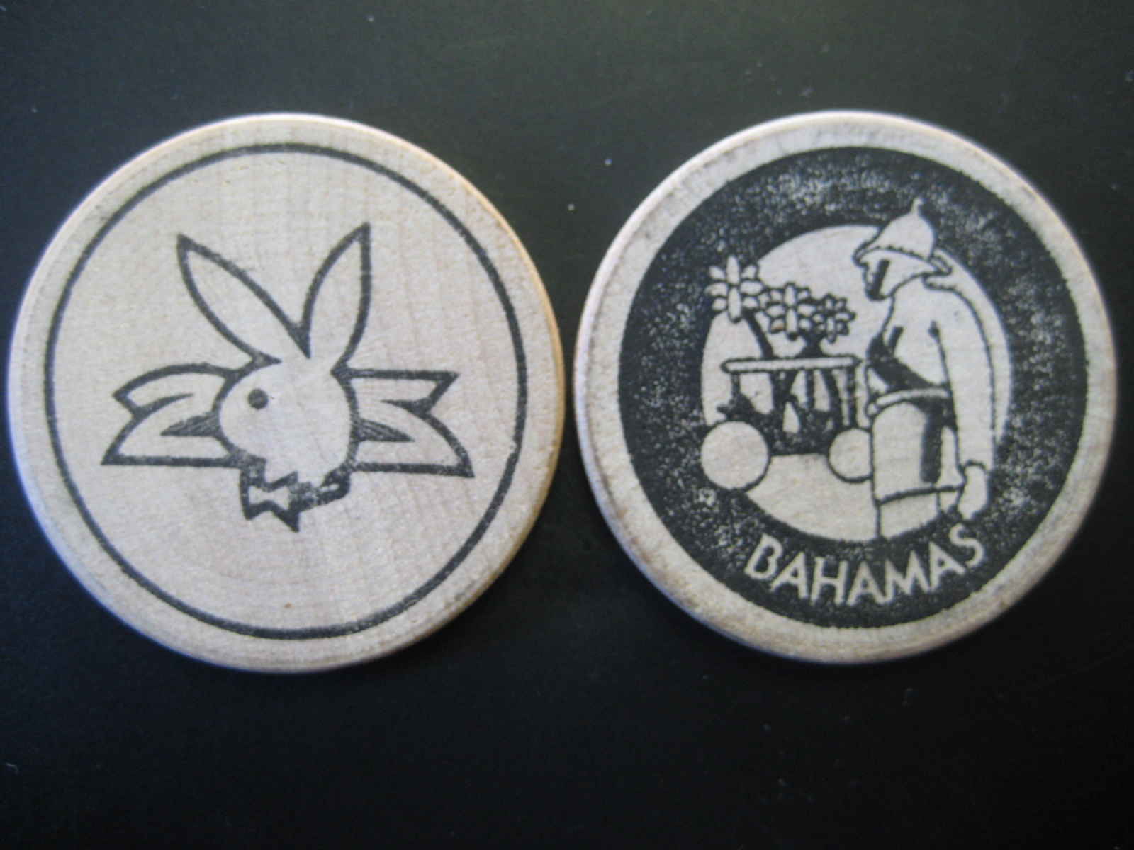 Plaboy Club Bahamas wooden Nickel