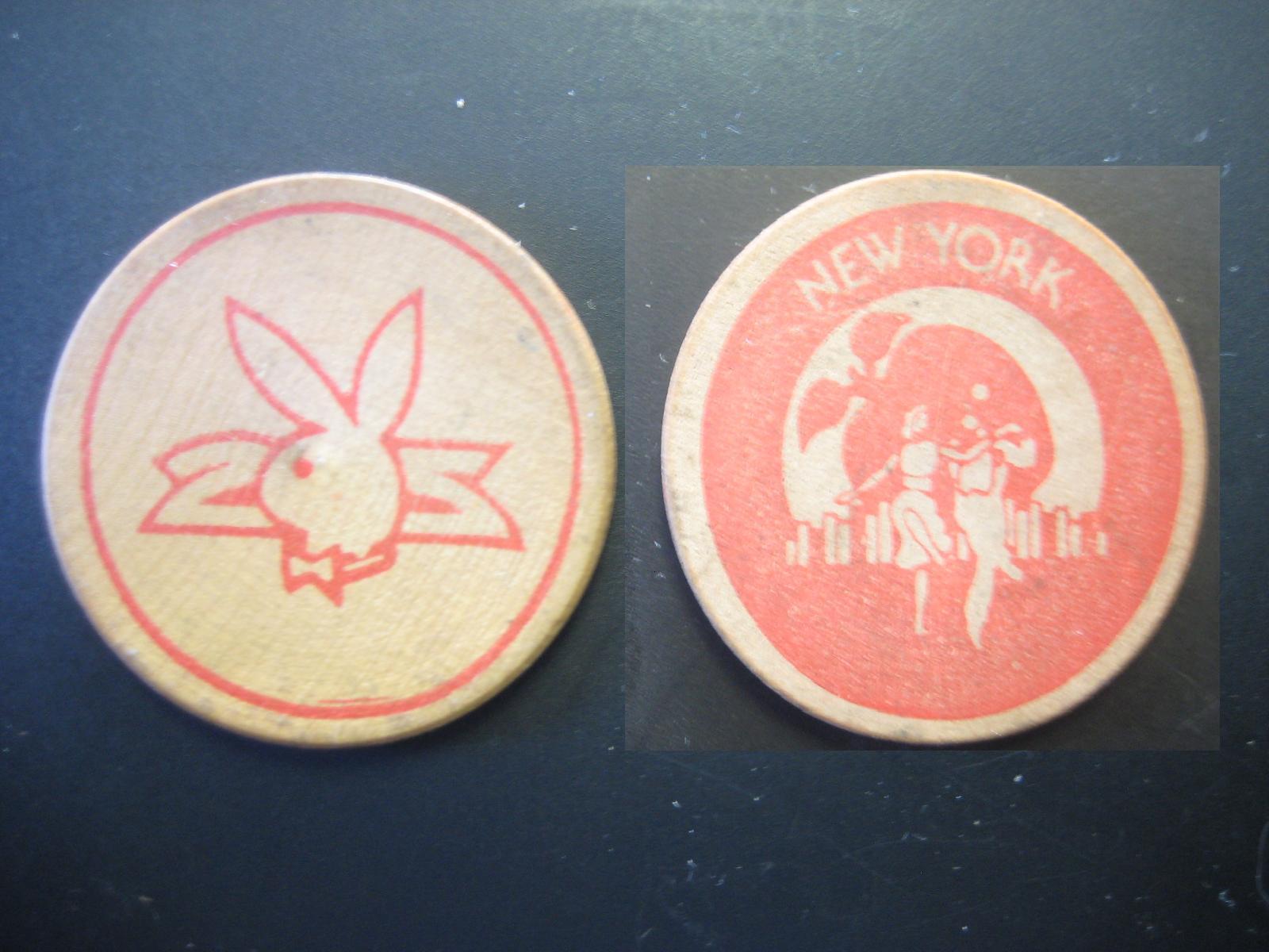 Playboy Club New York Wooden Nickel