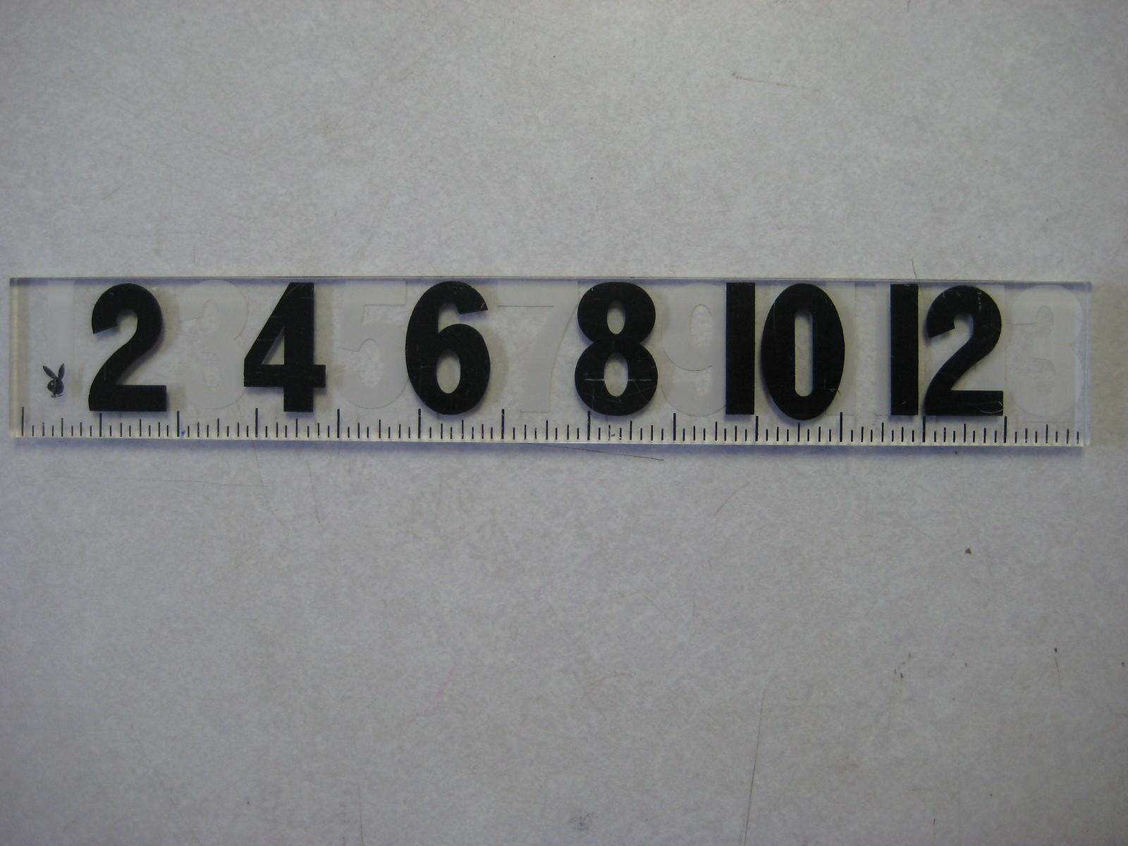 Playboy 13 inch Ruler