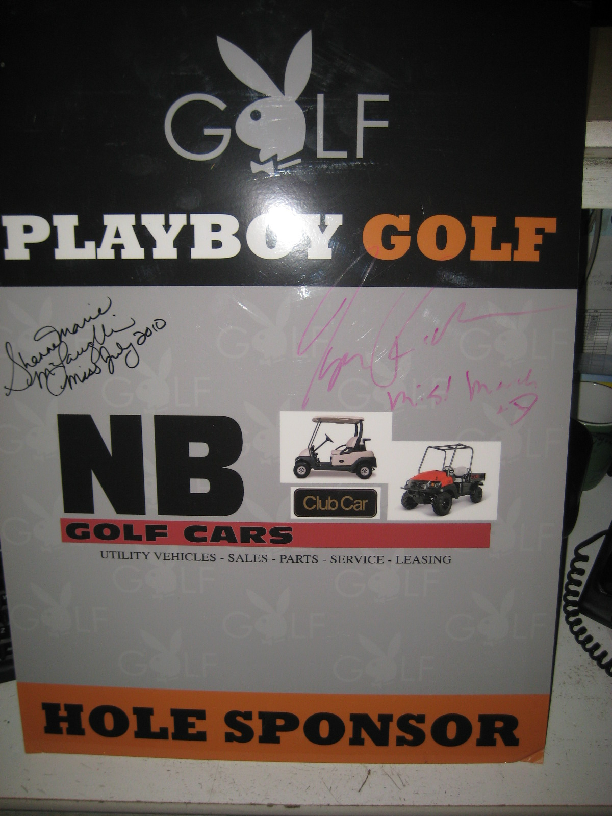 Playboy Golf Tournament Hole Sponsor