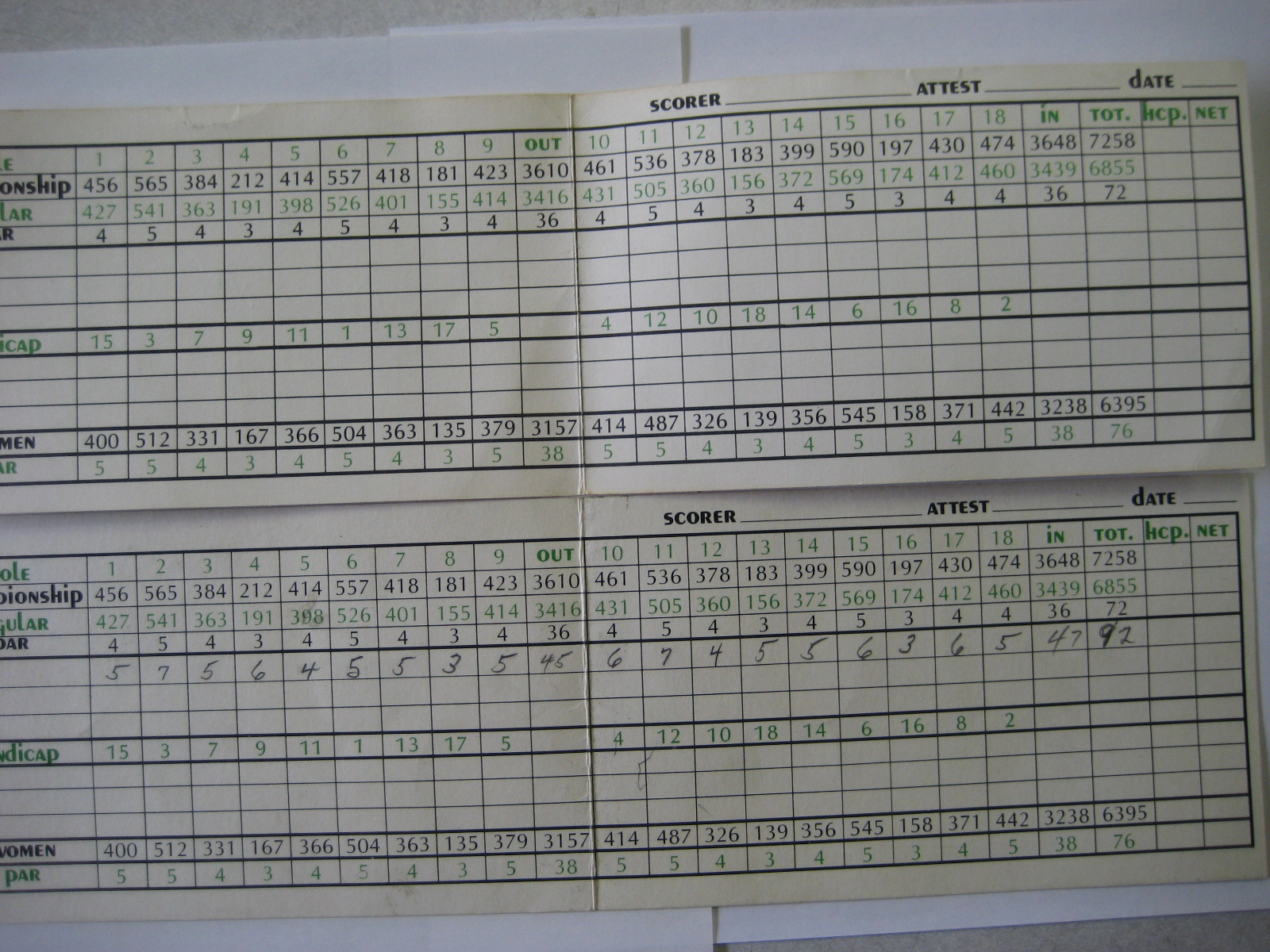 Playboy Club Lake Geneva Golf Scorecard