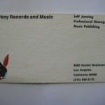 Playboy Records Business Card