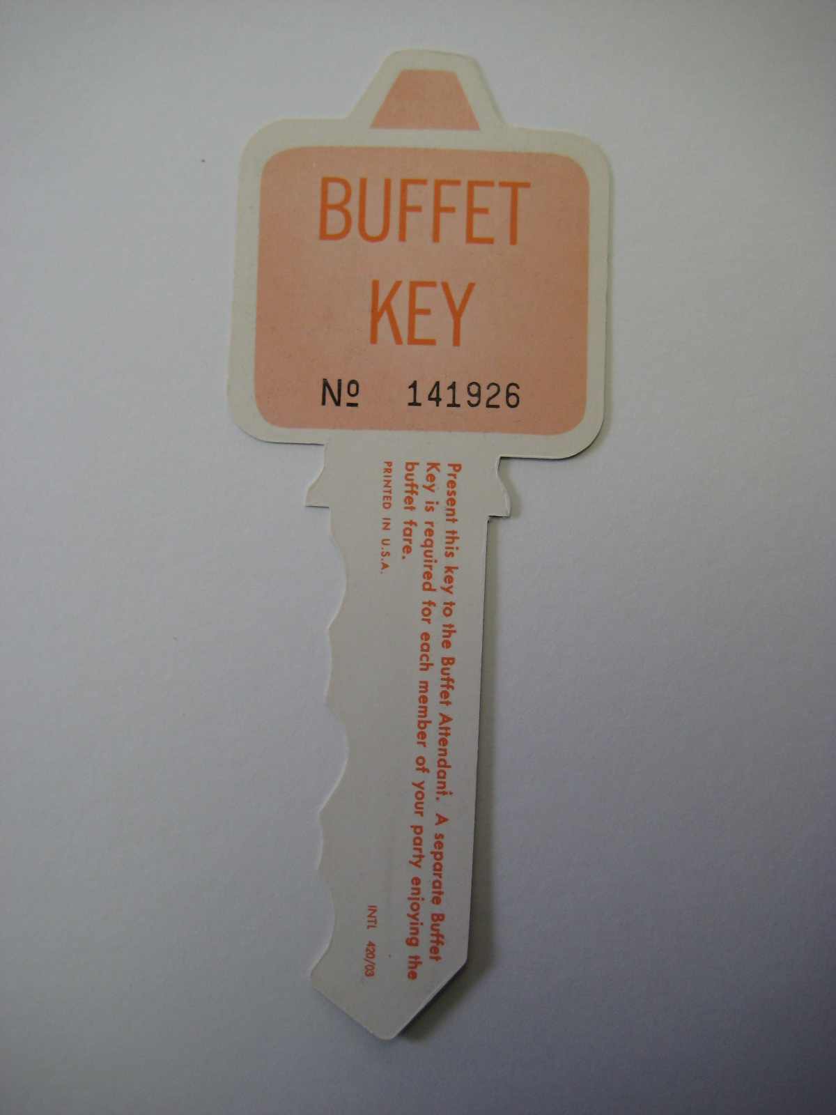 Playboy Club Buffet Key