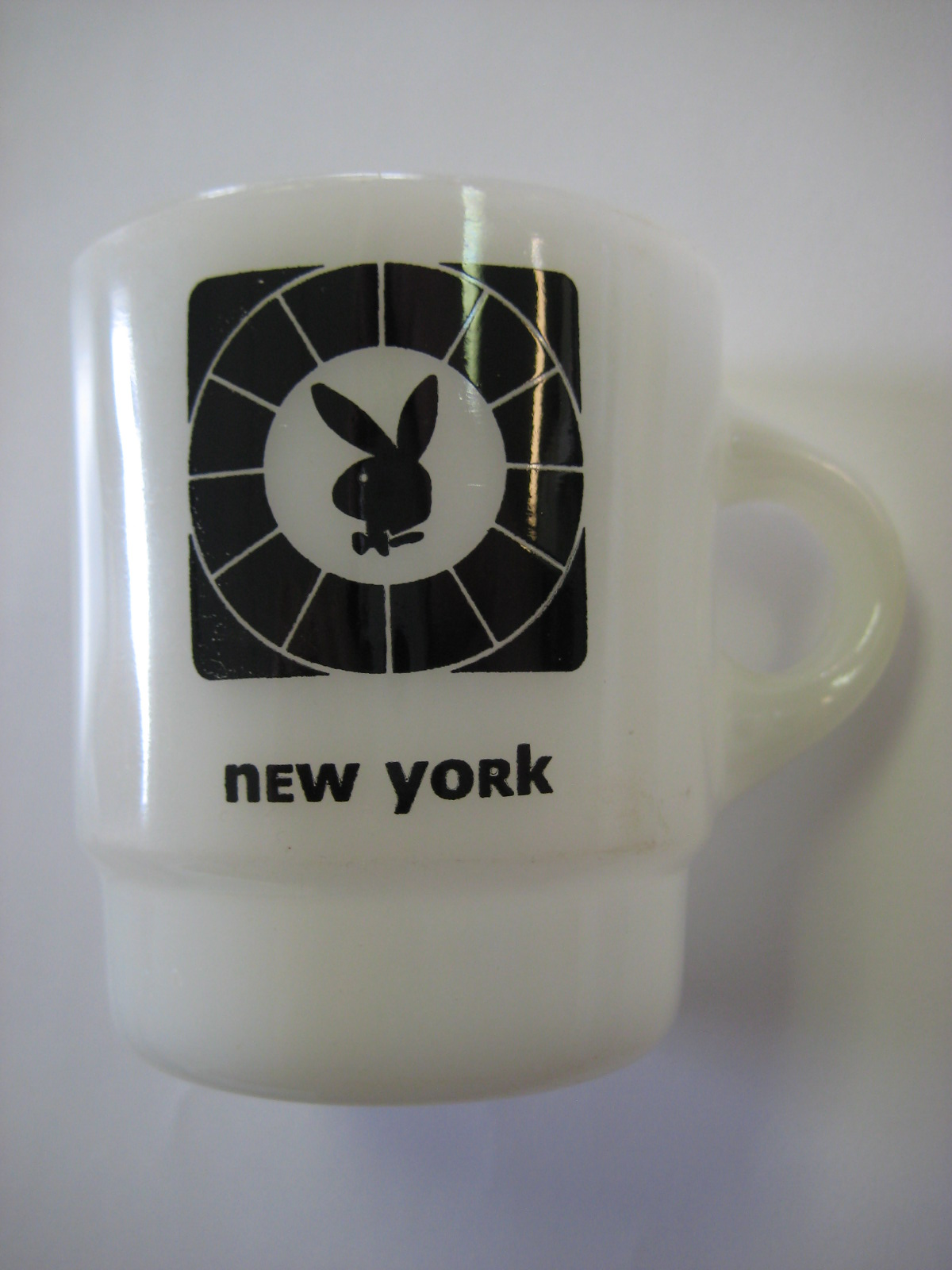 New York Playboy Club Fire King Coffee Mug