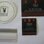 London Playboy Casino Coaster Matches and Slot Card