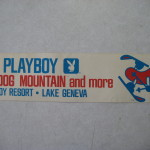 Playboy Lake Geneva Bumper Sticker Ski Hotdog Mountain